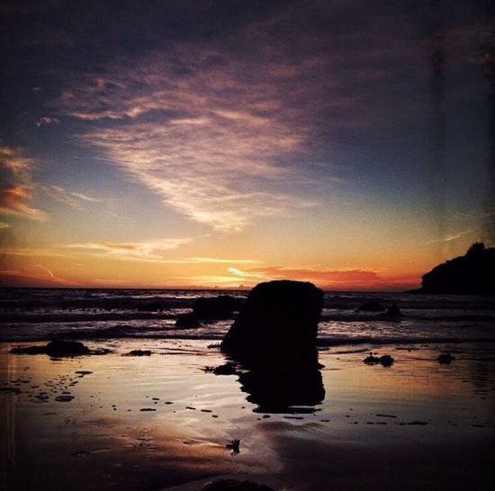 Muir Beach ,CA Bythesea Contrast Beachphotography Sunset Sunset Silhouettes Sunset_collection BeachSilhouette Sky And Clouds Silhouette Ocean Beach Light And Shadow Sky_collection Sunsetlover Sunsetphotographs EyeEm Best Shots - Sunsets + Sunrise Rocks And Water Rocks Coastline coast