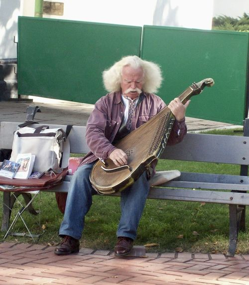 Gray Hair Kiev Kyiv,Ukraine Mandolin Music Music Brings Us Together Musical Instrument One Person Peaceful Senior Adult Wisdom