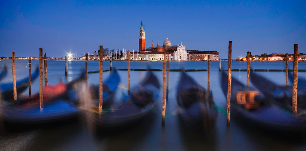 Gondolas at Blue Hour - Venice EyeEmNewHere Venice Venice, Italy Gondola - Traditional Boat Italy Italy❤️ Italy🇮🇹 Blue Hour Cityscape Urbanphotography Gondola - Traditional Boat City Cityscape Water Urban Skyline Blue Nautical Vessel Reflection Illuminated Sky