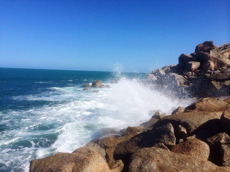 Victor Harbor , South Australia Beachphotography Blue Sea Seaside Reef Spindrift