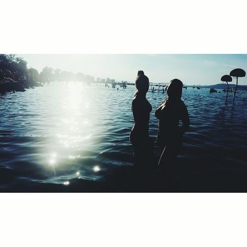 Togetherness Two People Sea Leisure Activity People Friendship Reflection Adults Only Relaxation Water Outdoors Adult Vacations Bonding Sunset Happiness Young Adult Sky Men Nature Women Human Hand Day One Young Woman Only Withmyfriend
