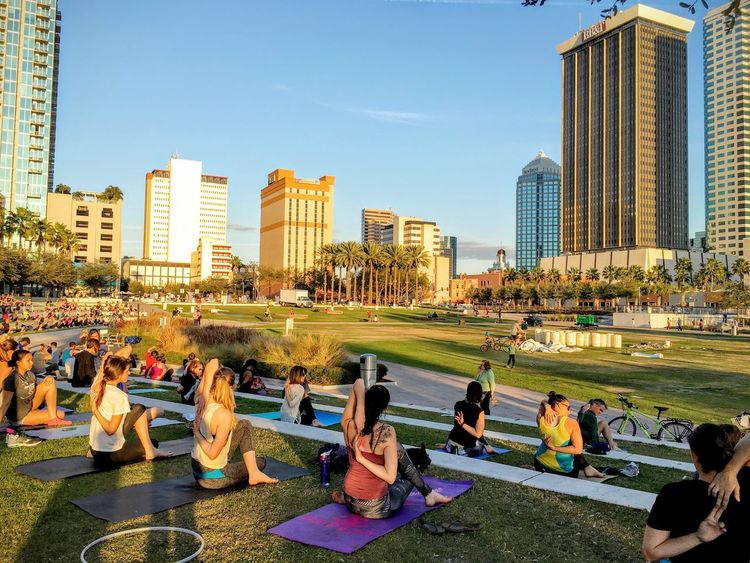 Yoga Yoga Pose Yogatime Yogapractice Park Riverwalk Tampa Tampa Fl Downtown Riverfront Curtishixonpark Curtis Hixon Park