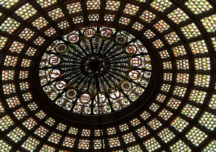 Chicagoculturalcenter Stained Glass Astrology Sunsign Horoscopes