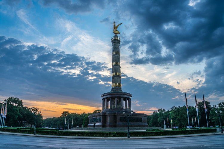 Siegessäule im Sonnenuntergang / Victory Collum at sunset Sunset_collection Architectural Column Architecture Building Exterior Built Structure City Cloud - Sky History Human Representation Memorial Monument Nature No People Outdoors Representation Sculpture Sky Statue Sunset Sunset #sun #clouds #skylovers #sky #nature #beautifulinnature #naturalbeauty #photography #landscape Tall - High The Past Travel Travel Destinations