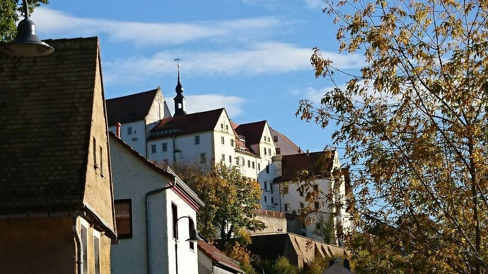 Schloss Colditz Colditz Castle Building Exterior Built Structure Architecture Day Sky No People Low Angle View History Historical Building Schloss Colditz Taking Photos EyeEm Best Shots Castle In The Sky