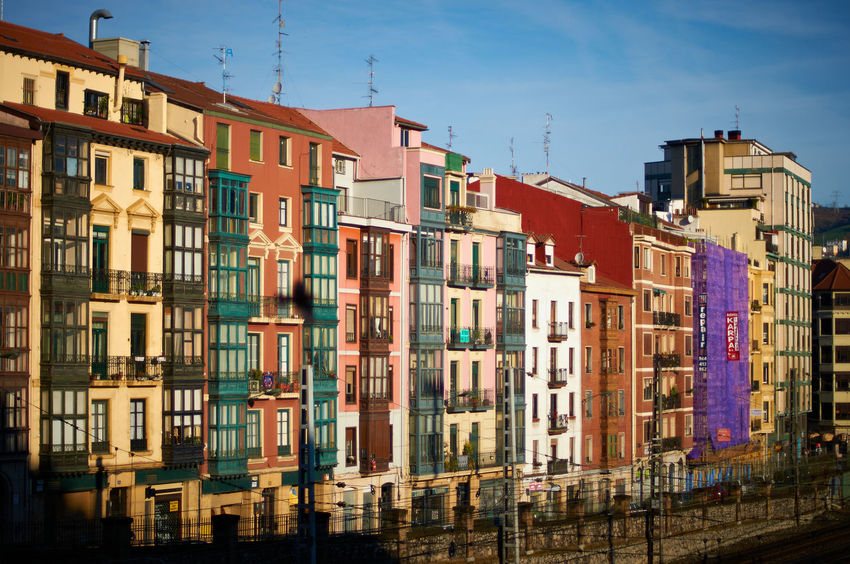 Bilbao #2 Bilbao Guggenheim SPAIN Ancient City Architecture Building Building Exterior City City Life Colorful Europe Multi Colored No People Residential District Row House Sky Sunlight Townhouse Travel Destinations Vizcaya