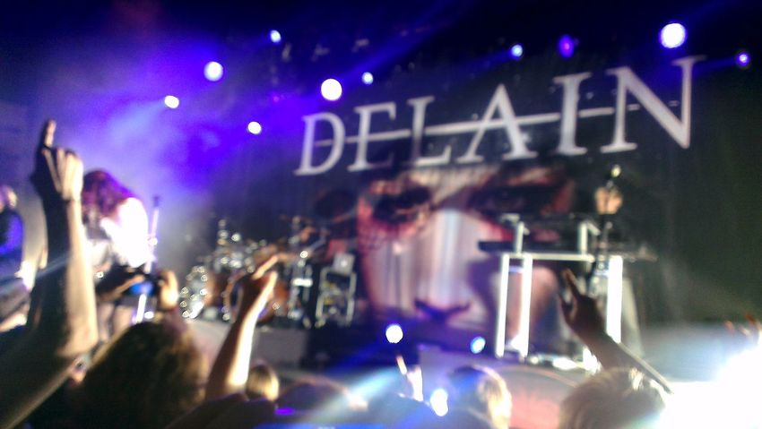 Out of focus but for some reason i love this shot Delain Concert Live Music Taking Photos