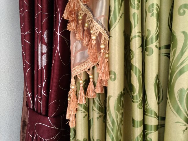 colorful Curtain Curtains No People Indoors  EyeEm Selects Backgrounds Retail  Close-up For Sale Shop Window Display Price Tag Market Stall Cloth Silk Stall Display Retail Display Various Tassel Market