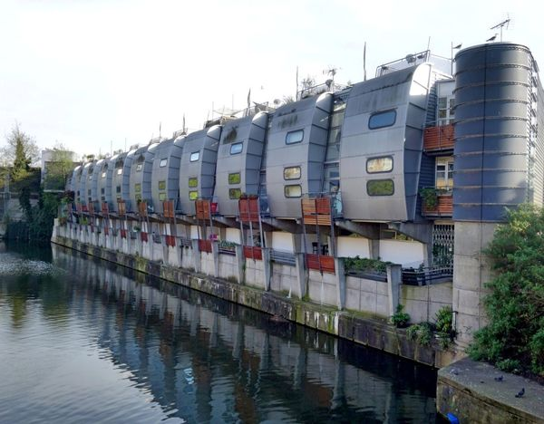 Regents Canal Canal London Canal In A Row Water No People Nature Sky Built Structure Building Exterior Architecture Reflection Converted Building Converted EyeEm Gallery London England, UK United Kingdom LONDON❤ Outdoors