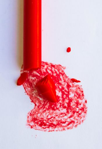 Colors Funny Blood Broken Close-up Colorful Day Freshness Indoors  No People Pencil Red Violence White Background