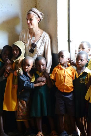 Ntungamo School Uganda School Boys Woman Child Childhood Friendship Standing Togetherness Males  Females A New Beginning