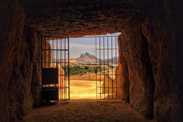 Interior of burial