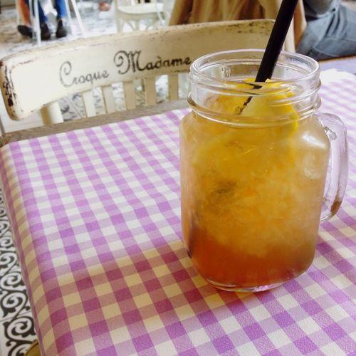 Refreshing drink Warsaw Poland Lemonade Lavender Croquemadame Yummy :) Refreshing Polish