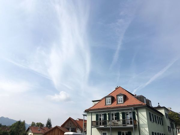 Bad Tölz Residential Building Cityscapes Bavarian City Blue Sky Architecture Low Angle View