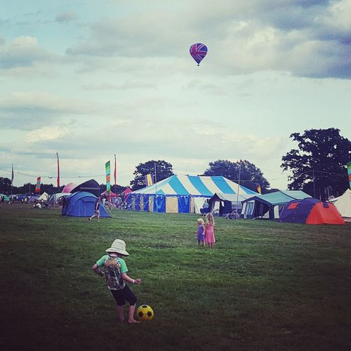 Camping Life Tents Nature Family Hot Air Ballooning View Peaceful Festival Chilled In A Field Hop Farm Kent The Great Outdoors - 2016 EyeEm Awards Union Jack