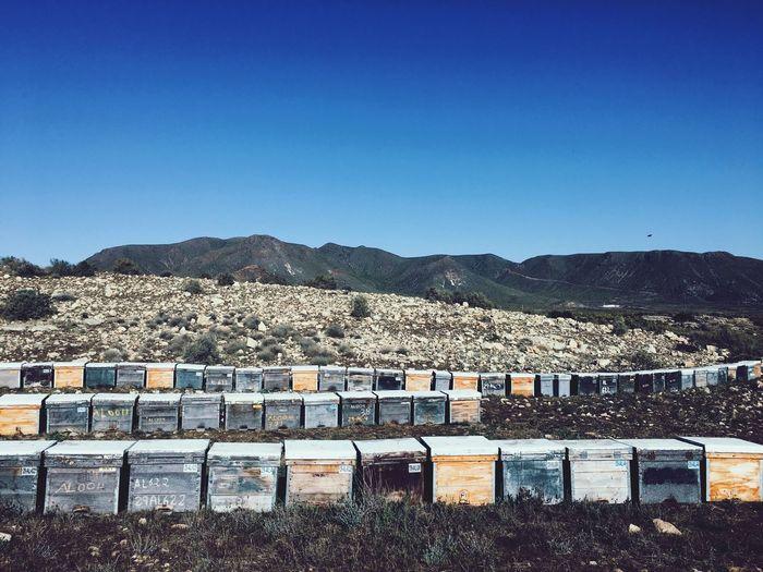 Bee 🐝 House Cabo De Gata-Níjar SPAIN Bee 🐝 Sky Clear Sky Blue Copy Space Mountain Architecture Nature