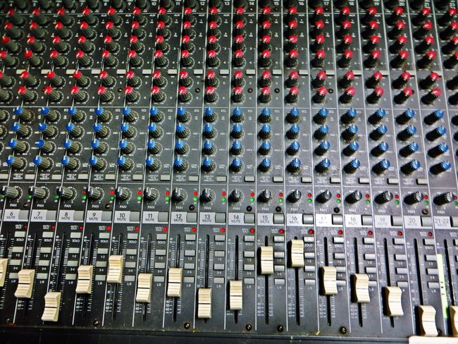 Sound Mixer Sound Recording Equipment Music Recording Studio Technology Audio Equipment Control Full Frame Studio Noise Electronics Industry In A Row Electrical Equipment Repetition Mixing Arts Culture And Entertainment Control Panel Backgrounds Electricity  Broadcasting Close Up Technology