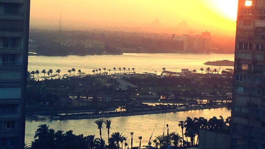 Morning in Cairo Pyramids Egypt EyeEmNewHere City Cityscape Water Urban Skyline Sunset Skyscraper Tall - High Skyline