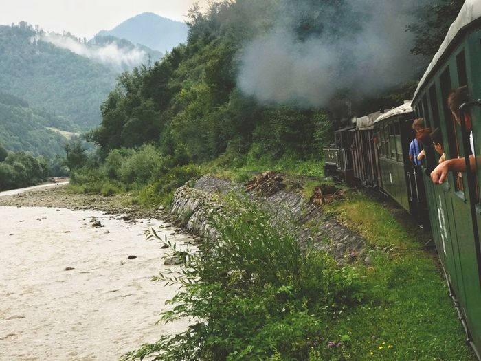 Mountain Real People Day Nature Outdoors People Train Steam Train Steam Locomotive Transportation Forest Path Forest Train Rewilding