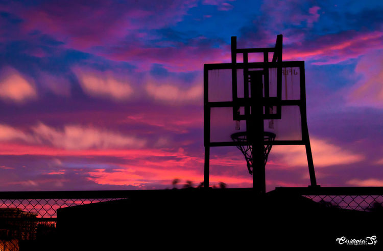 Basketball Ring Silhouette Atmosphere Basketball Ring Beauty In Nature Beauty In Nature Blue Built Structure Christopher Sy Photography Cloud Cloud - Sky Clouds And Sky Dark Dramatic Sky Dusk EyeEm Best Edits EyeEm Best Shots Eyeem Philippines Moody Sky Nikon D90 Outdoors Romantic Sky Scenics Silhouette Silhouettes Sky Sunset