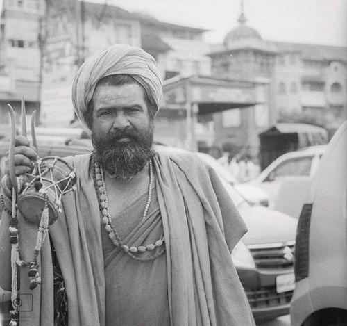 Blackandwhite Portrait Faces Kumbh Documentaryphotography Facesofindia