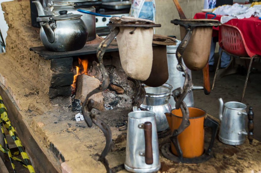 Coffee Camping Stove Close-up Coffee Preparation Day Flame Heat - Temperature Indoors  Low Section Men One Person People Preparation  Workshop Food Stories