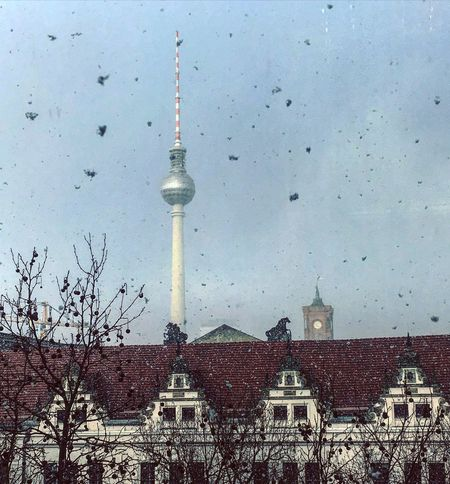Pastel Power Fernsehturm Berlin Berliner Ansichten Panorama Winter City Snow Window Rooftop View  Rooftops