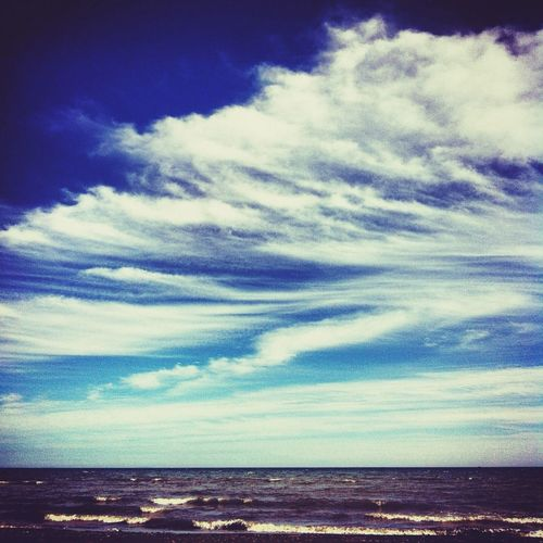 Ostrov_sakhalin Beach Sea And Sky Clouds And Sky