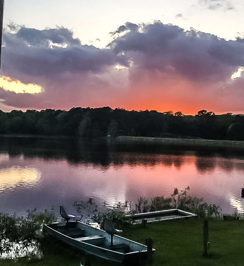 Reflection Lake Sunset Nature Tranquility Outdoors Sky Silhouette Cloud - Sky Beauty In Nature Landscape Scenics Boats Sunset On The Water Nautical Theme Nautical Vessel Shoreline Waterline Lake Copiah Crystal Springs, Ms.usa