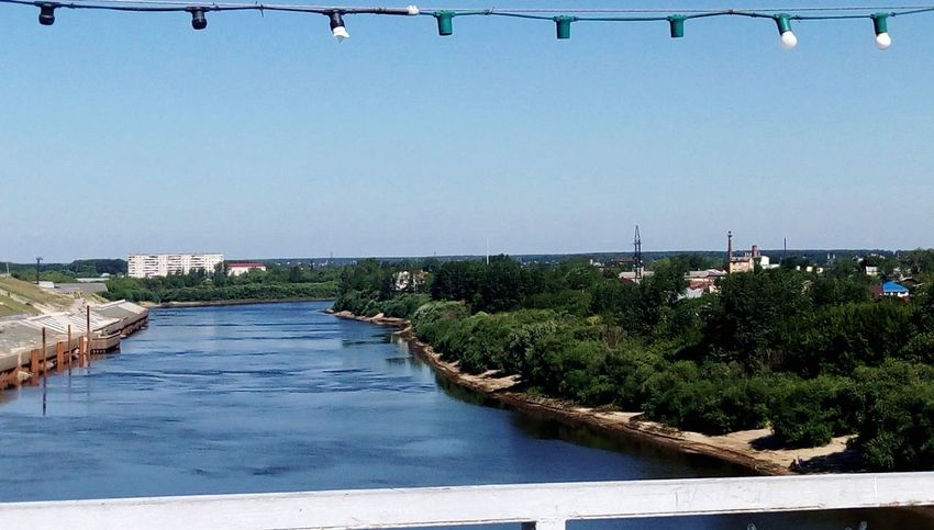 Lovely Tyumen bridge over Tura river Water Built Structure Clear Sky River No People Bridge - Man Made Structure Nature City Tyumen'