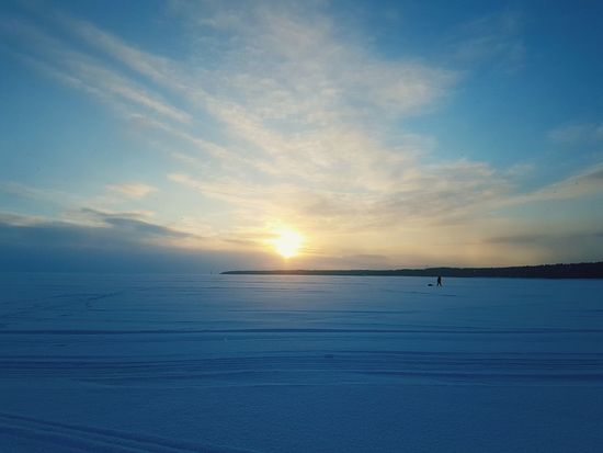 Замерзшая стихия. Финский залив Sunset Scenics Sea Tranquil Scene Tranquility Beauty In Nature Horizon Over Water