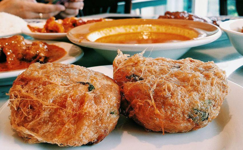 Nasi Padang Begedil Deep Fried  Potato Patty Sourheast Asian Food Foodphotography Singapore