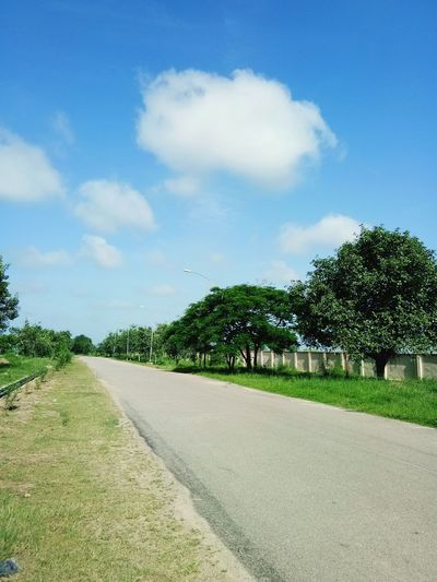 a path in my University Blue Sky Road Road Way Rgukt Cloud - Sky Tree Sky The Way Forward Nature Outdoors Road EyeEmNewHere