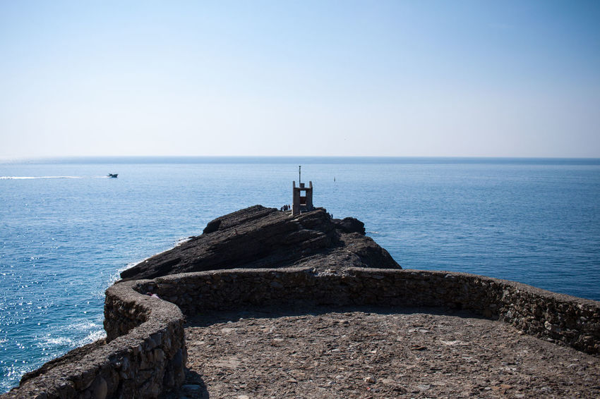 Architecture Beach Blue Clear Sky Cliff Day History Horizon Over Water Nature No People Outdoors Rock - Object Scenics Sea Sky Tranquil Scene Tranquility Travel Destinations Water