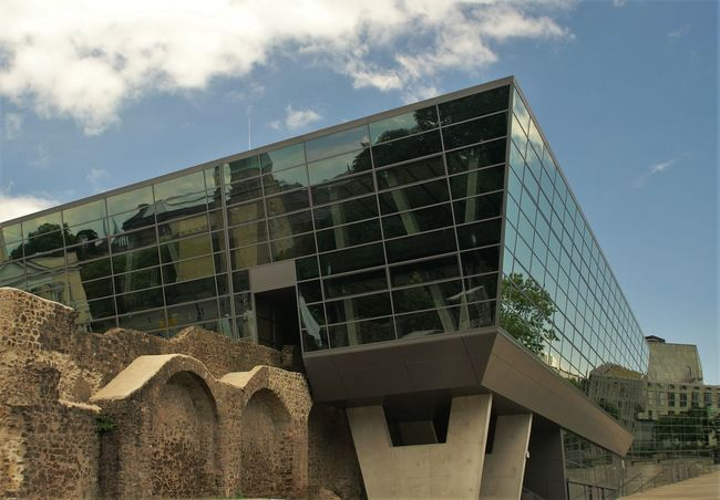 Old Vs New Architecture Building Exterior Glass Modern No People Reflections Symmetry