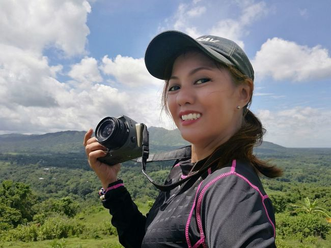 JustMe on my Pentax Ks2... Kulotitay Clicks Portrait Looking At Camera Headshot Smiling Landscape Mobile Global Shooters Cloud - Sky One Girl Only Outdoors Sky Nature Mountain Be. Ready.
