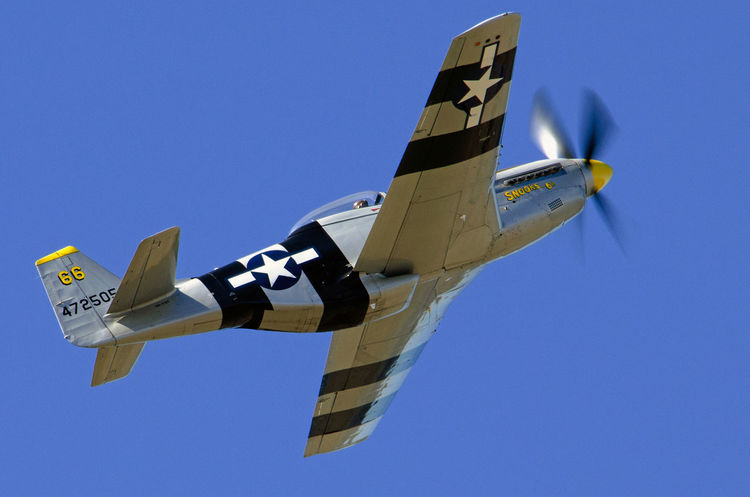 Airshow Fighter Plane Airplane Military Airplane Aerospace Industry P-51D Mustang Vintage Aircraft Warbirds