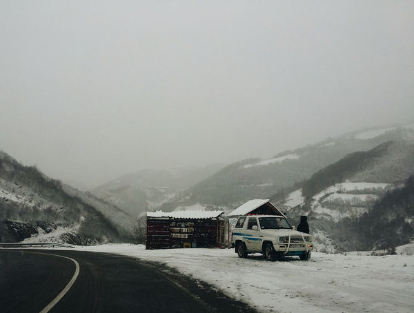 Cold Cold Temperature Copy Space Day Fog Foggy From My Point Of View Hiking Hill Landscape Mountain Mountain Range Nature Nature_collection Outdoors Physical Geography Remote Road Roadtrip Snow The Way Forward Weather Winter Landscapes With WhiteWall