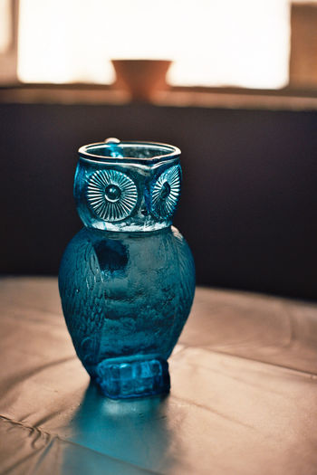 Analogue Photography Film Blue Bokeh Colour Film Photography Jug Owl Still Life