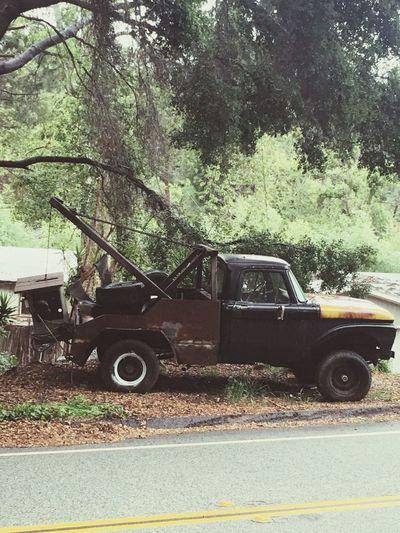 Old Rusty Tow Truck Vintage Cars Old Truck Rust Bucket Still Trucking Ojai California Roadside Vehicle Photography Mater EyeEm