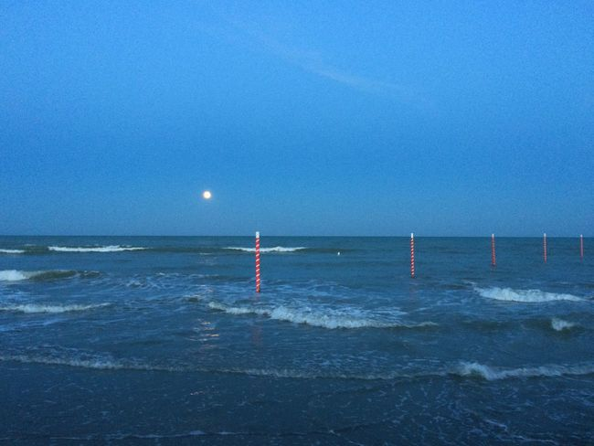 Moonrise Moon Moonlight Full Moon Streamzoofamily Water_collection Waves Italy Landscape_Collection Landscape