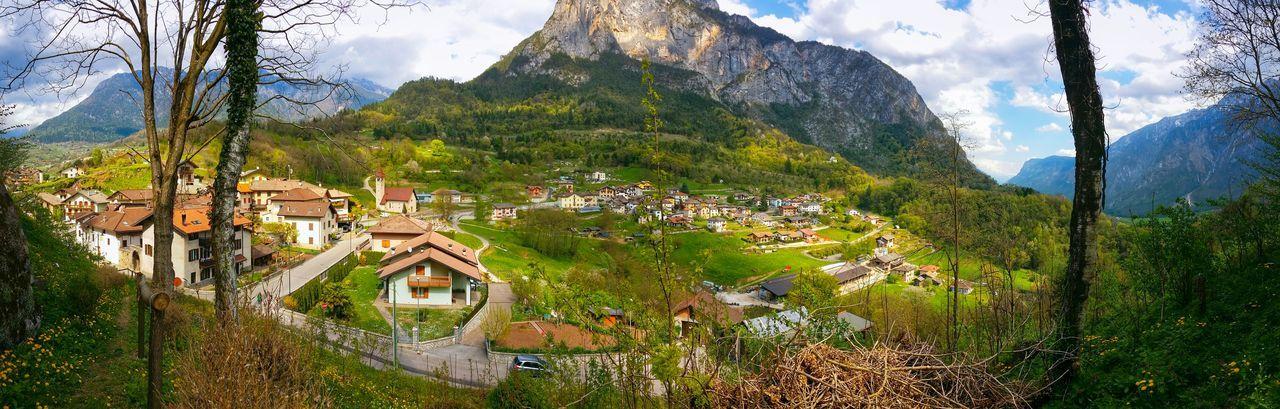 Panoramic view of sugana valley