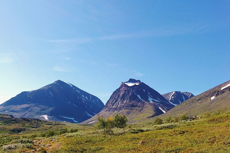 So me and my friends went up north to hike along the trail called Kungsleden. It was beautiful there.