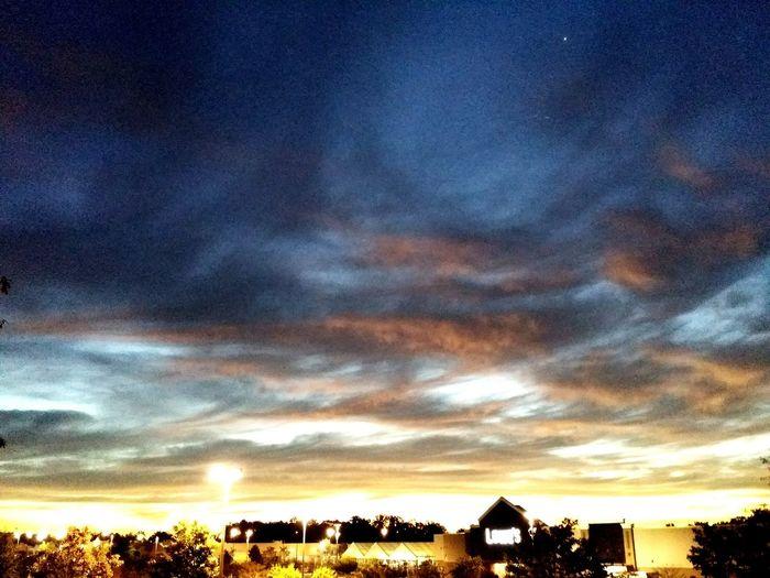 Weird colored sky....