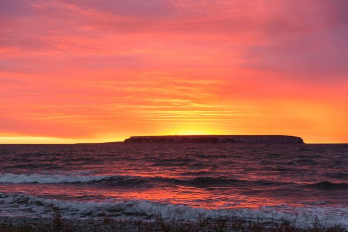 Ekstakusten on Gotland Sweden Sun Sunset Coastline Coast Ocean View Island Evening Light