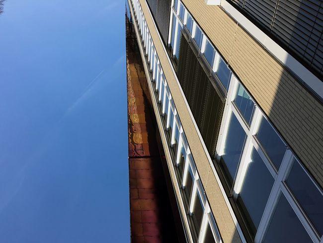 Sunday_flip Architecture Architecture_collection Blue Sky Vanishing Point Windows Minimalism Geometric Shapes Leading Lines Perspective Looking Up Urban Geometry Urban Landscape Minimal Minimallyminimal