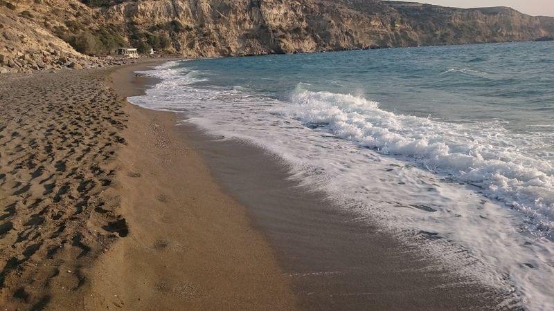 Sand Water Beach Beauty In Nature Komos Beach Greece Crete