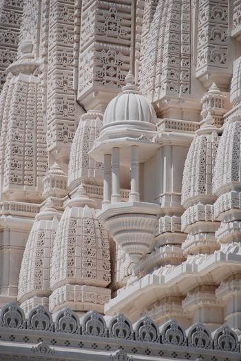 Architecture BAPS Shri Swaminarayan Mandir Hindu Temple Carvings In Stone Fresh On Eyeem  Indian Architecture Indian Temple No People Outdoors Religious Architecture Serenity Spiritual Statues Sunny Day White Stone