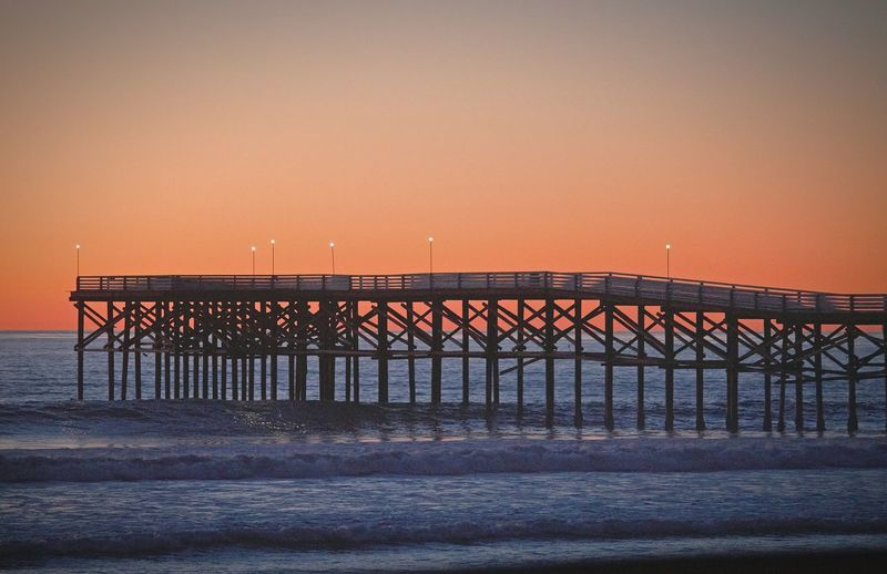 Our first January living in San Diego My Year My View Piers And Waves Orange Illuninated Vibrant Vibrant Color