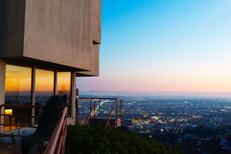 Sunset in Hollywood EyeEm Selects Architecture Built Structure Building Exterior Sky City Sunset Cityscape Nature Dusk Building Outdoors No People City Life Clear Sky Sea Office Building Exterior Residential District Travel Destinations
